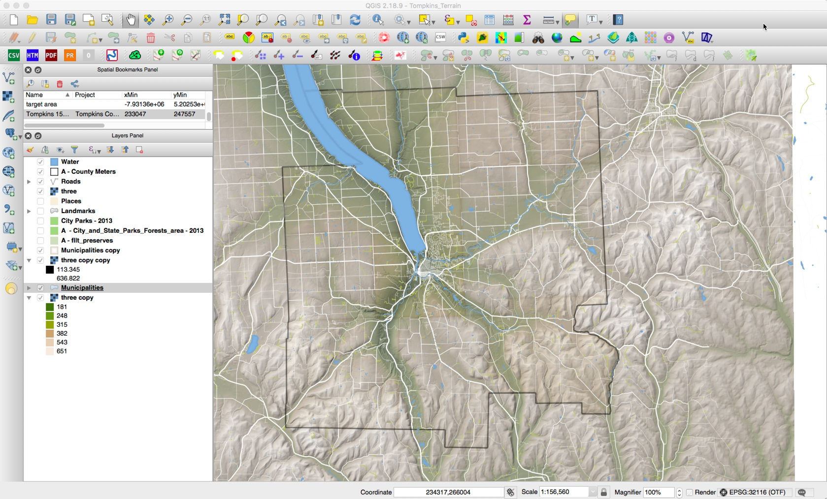 Map View in QGIS